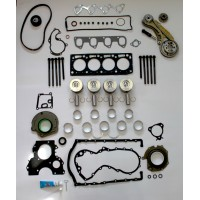 Ford 1.8 TDCi Engine Rebuild Kit with Wet Belt to Chain Conversion Kit