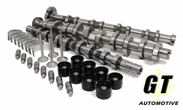 GT Camshafts, Lifters, valves, cranks