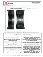 king bearing wear chart